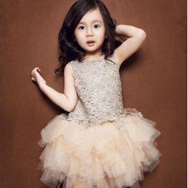 Soirée, Robe De Princesse Des Spectacles Pour Enfants,Robe D'enfant