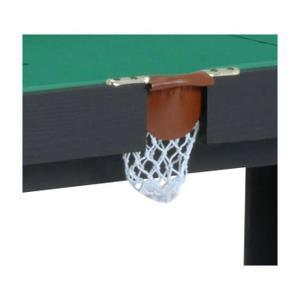 La Table Multi jeux Riley comprend un plateau de billard, baby foot