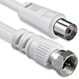 1aTTack Câble coaxial/antenne/satellite Connecteur F Coaxial mâle