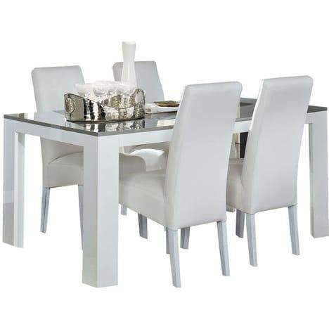 Table de jardin extensible topiwall - Table salle a manger extensible blanc laque ...