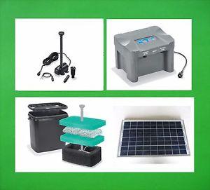 20 W Solaire Pompe D'Immersion Batterie DE Cours D'EAU Bassin Filtre