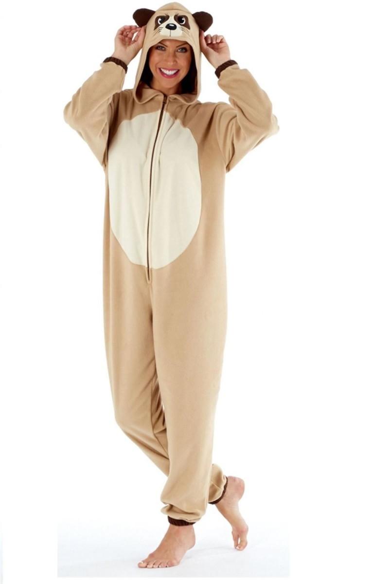 Pyjama Body Femme Combinaison Grenouillère à Capuche
