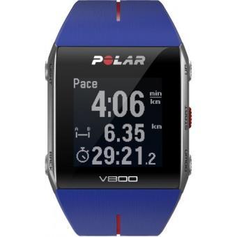 sport polar v800 sans ceinture cardio bleu montre multifonctions polar