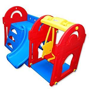 Maison pour Enfants avec toboggan et balançoire KS 108 Petra