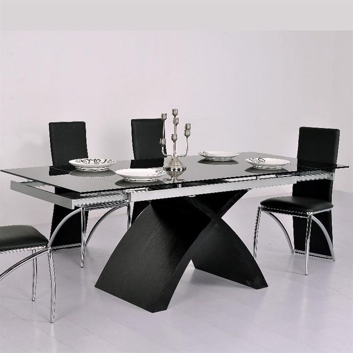 Tables a manger design topiwall for Table de salle a manger en verre avec rallonge