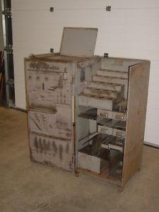 sur Rare Ancienne Armoire Industrielle Metal Atelier Années 50