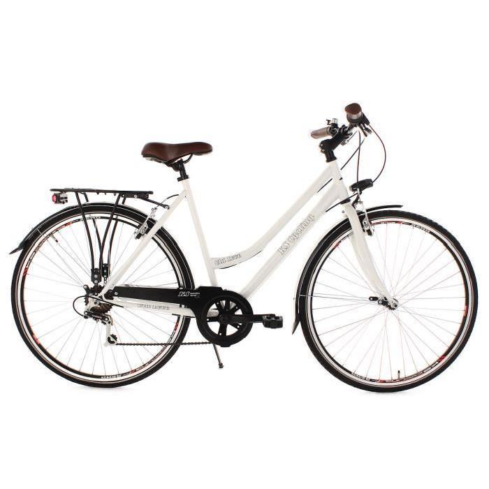 Vélo de ville femme 28» Old Love blanc TC 54 cm Achat / Vente