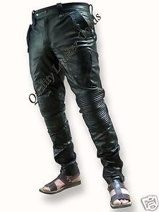 homme style unique rembourre genou luxe pantalon jeans pantalon