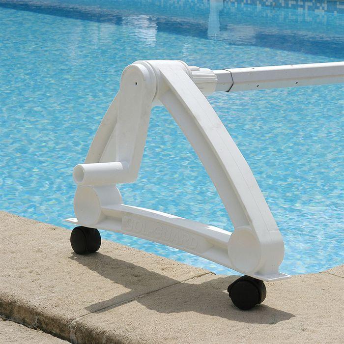 enrouleur de bache resine pour piscines enterrees
