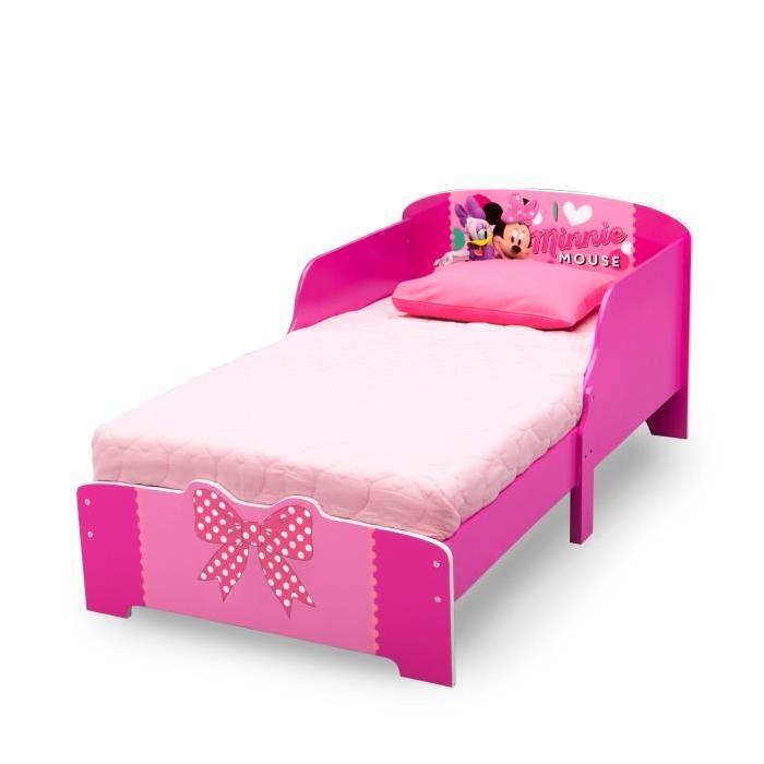 Lit enfant en bois rose 70 x 140cm Achat / Vente structure de lit