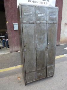 ancien vestiaire armoire industrielle indus mobilier