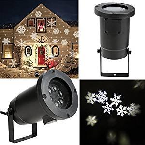 Homdox LED Lampe de neige Lampe de Projecteur Lumière extérieur