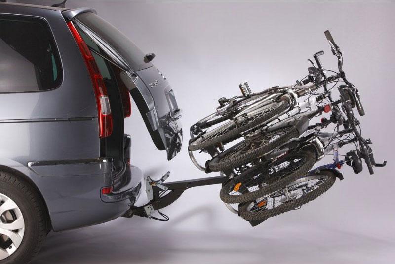 Mottez Porte vélo plateforme, basculable sur attelage Premium