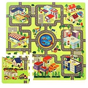 Tapis puzzle circuit de route 934740412: Jeux et Jouets