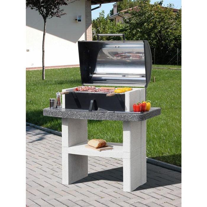 barbecue fixe en pierre reconstitué se marie ave? Voir la