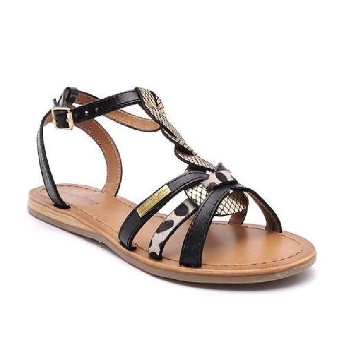 Sandale plate e HAMS LES TROPEZIENNES Noir Achat / Vente sandale