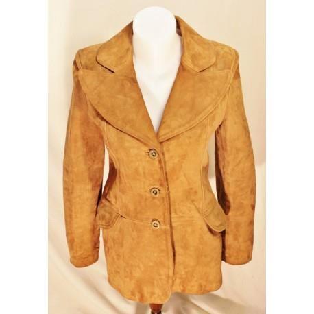Manteau daim femme vintage