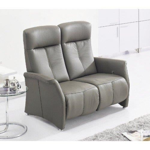 odysee canape relax electrique cuir vachette gris