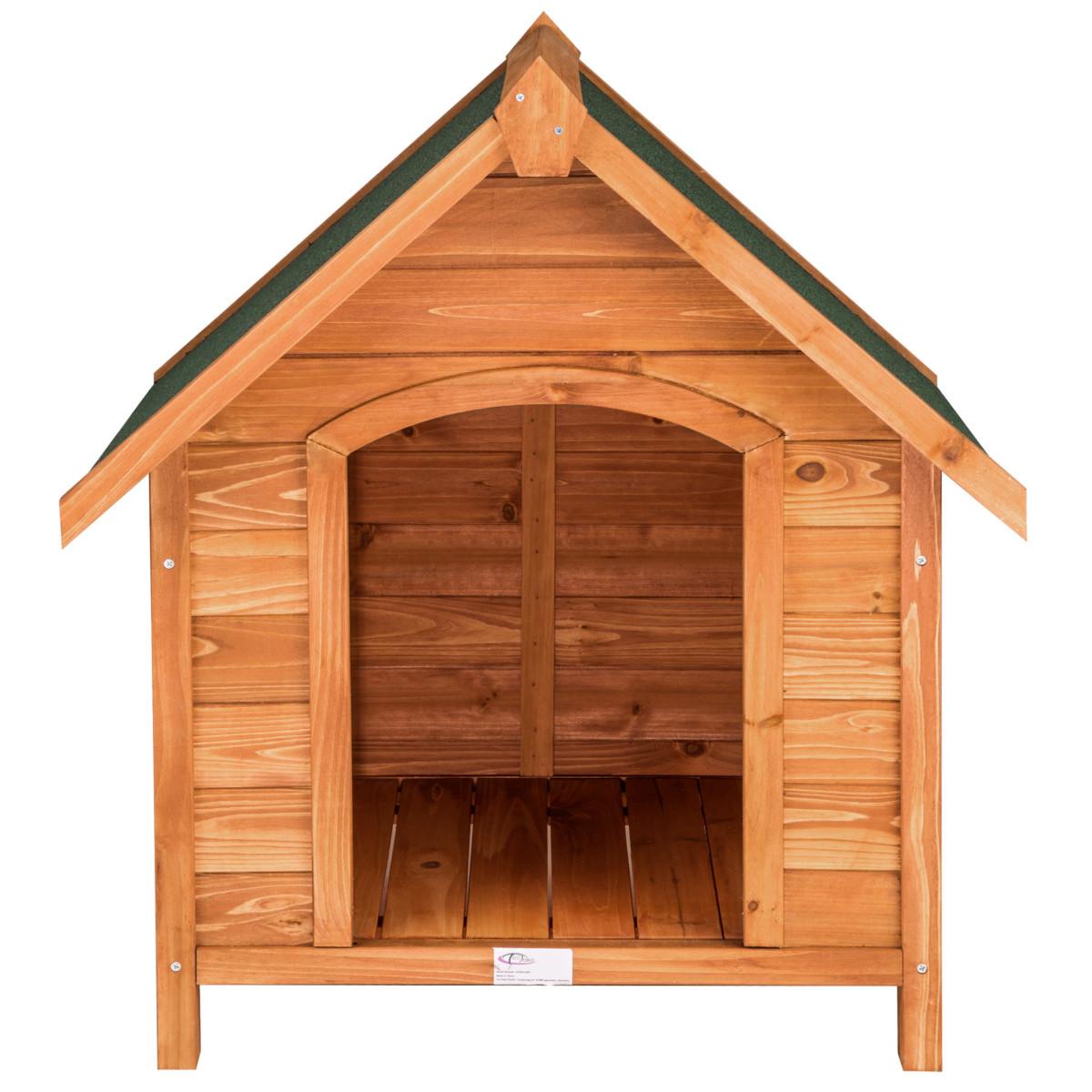Niche villa pour chiens XXL en bois massif chenil maison à chien toit