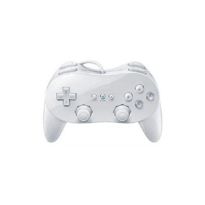 Manette Classique Pro Blanc Compatible Wii Achat / Vente manette