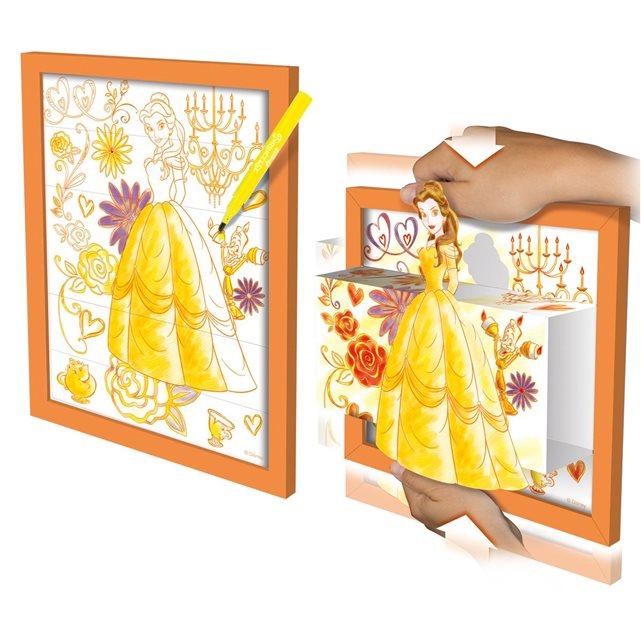 LANSAY Coloriage et tableau 3D Princesse Disney : Belle