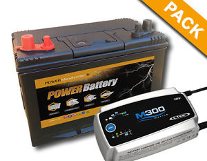 Batterie Bateau Camping CAR Decharge Lente 12V 86AH Chargeur Ctek M300