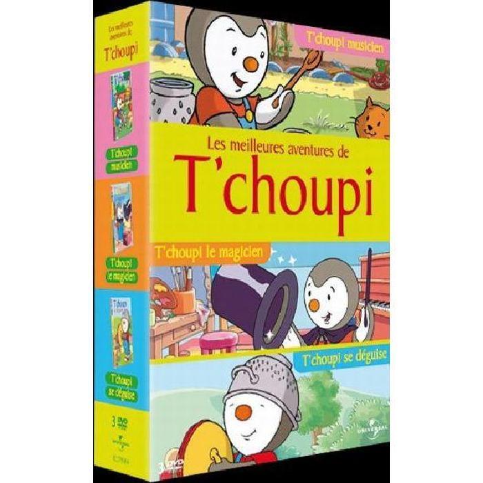 DVD Coffret t'choupi : t'choupi musicien ; t'ch en dvd film pas