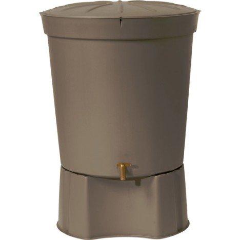 Récupérateur d'eau aérien GARANTIA cylindrique taupe , 300 l
