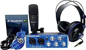 kit d'enregistrement studio avec Casque HD7 + Microphone M7 + Studio