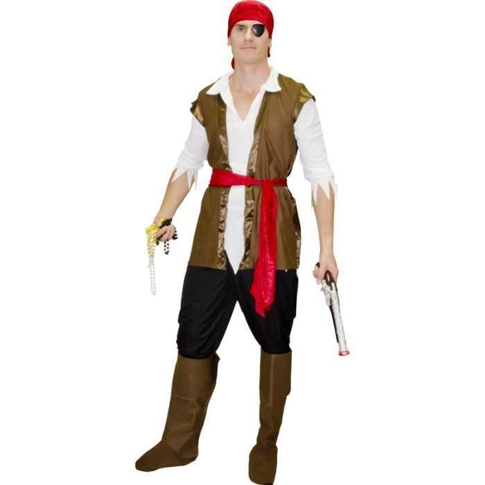 Costume de pirate pour homme taille L.M Déguisement en 100% polyester