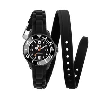 montre ice watch twist noir bracelet double tour silicone montre femme