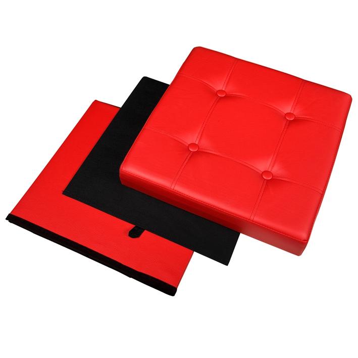 SoBuy® XXL Coffre de Rangement,Cube Pouf Dé Pliable,Tabouret Boîte