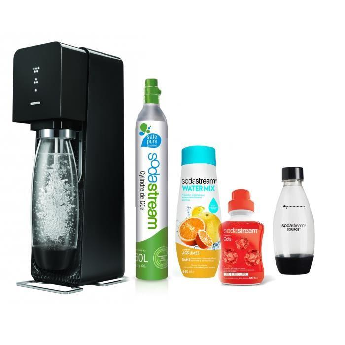 Méga pack SODASTREAM Machine Source Noire + Concentré WaterMix