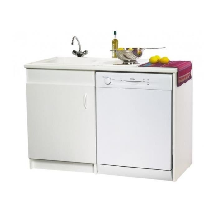 Meuble de sous évier option Lave vaisselle 120 x 60 Achat / Vente