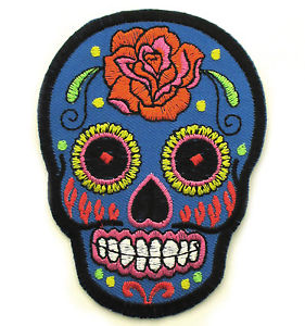 Ecusson Patch Tête de mort Mexicaine CALAVERA Tattoo Tatouage Sugar