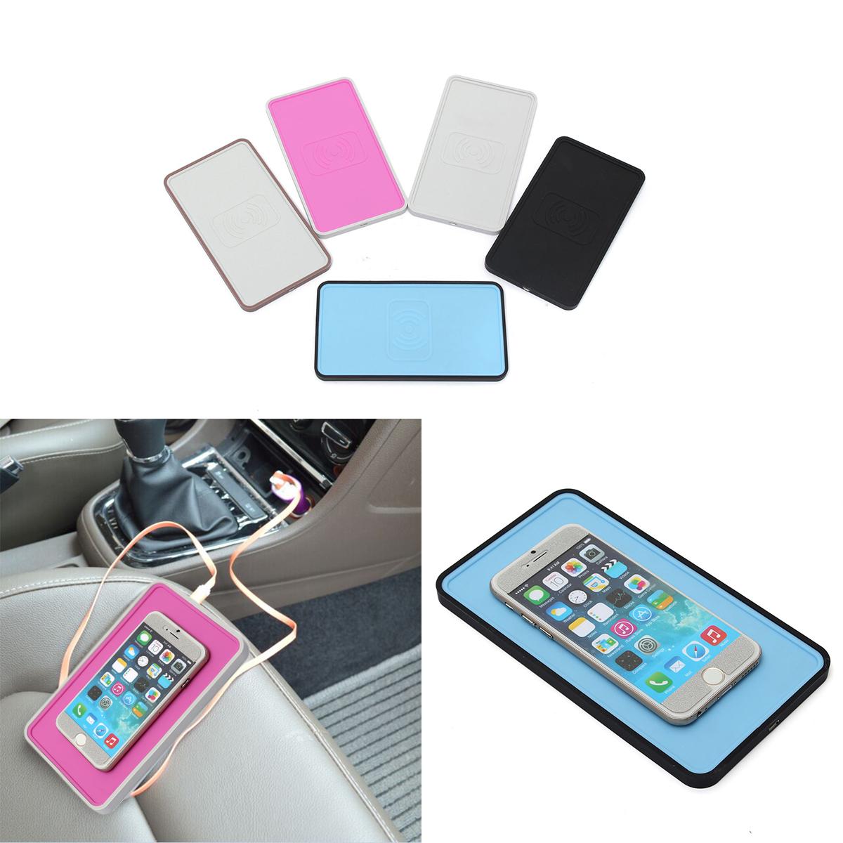 Qi Chargeur USB Pad Emetteur Wireless Charger Holder Car Auto Voiture
