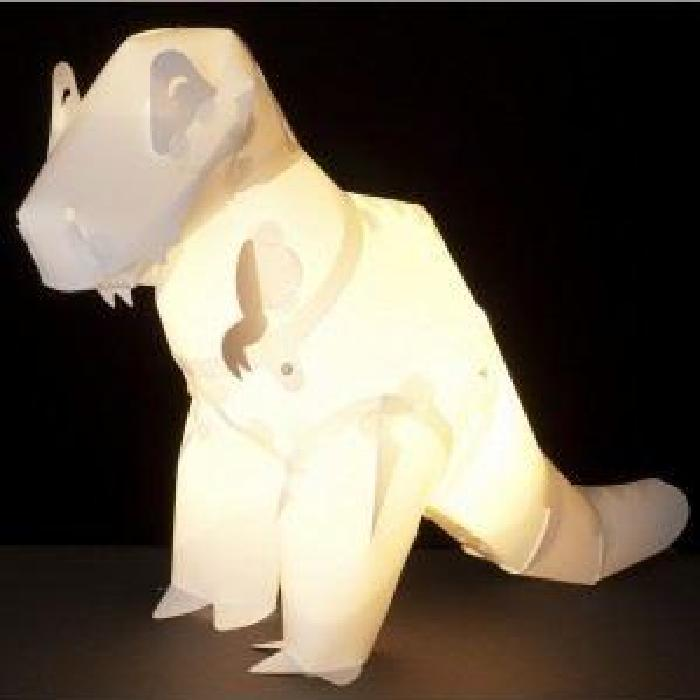 de chevet enfant T Rex l'origami Blanc Achat / Vente Lampe enfant