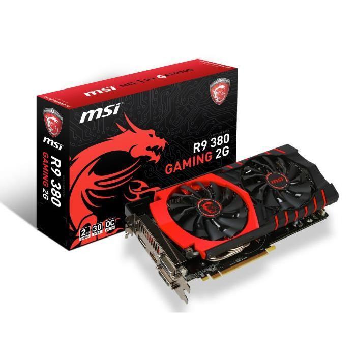 MSI carte graphique R9 380 Gaming 2Go DDR5 Prix pas cher Soldes* d