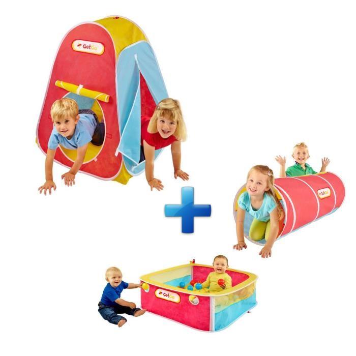 Enfant + Pack d?Activités Get Go Tente Enfant, Tunnel et Parc