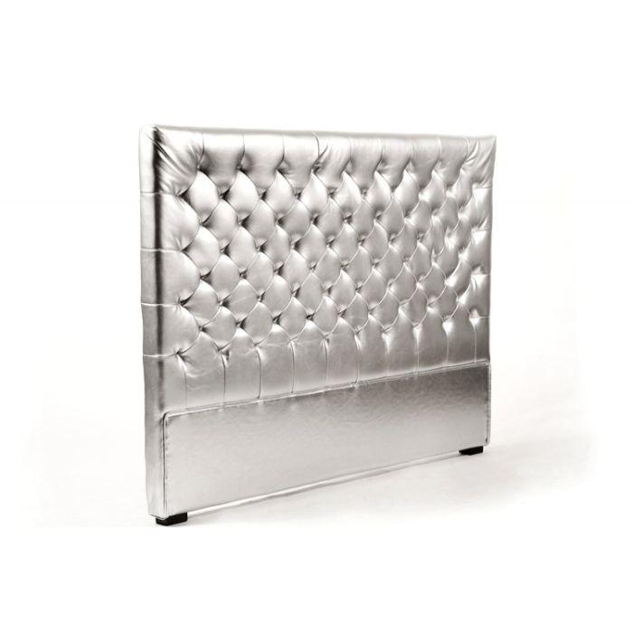 Tête de lit capitonnée argent 160 cm Achat / Vente tête de lit