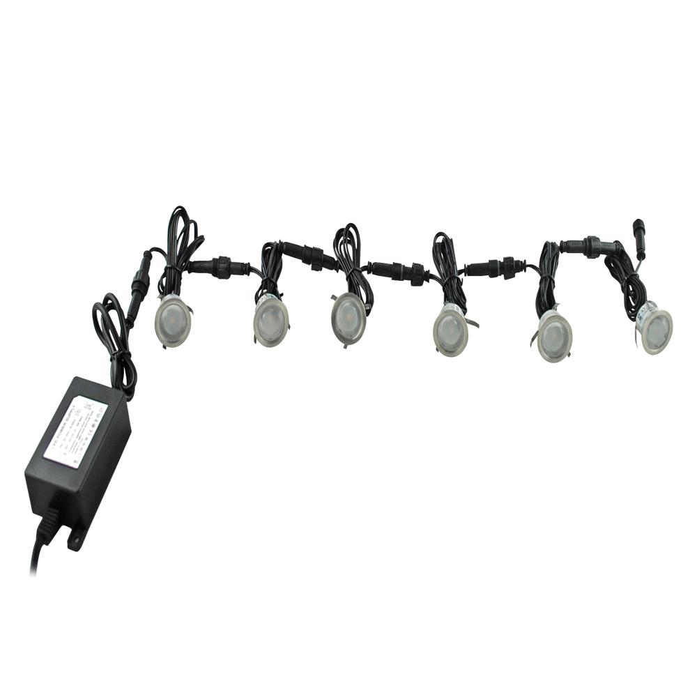 6pcs Lampe lumière Ampoule Spot LED Bleu Maison Escalier