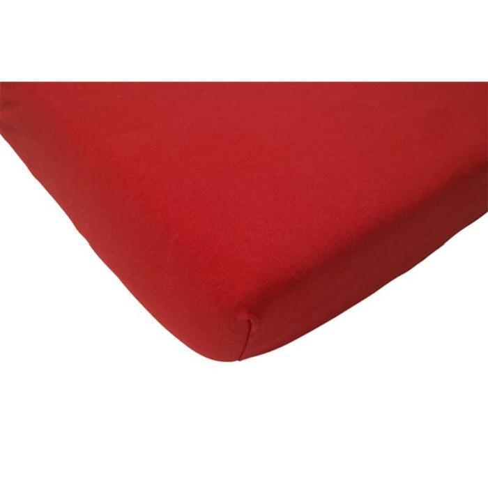Drap housse 60 x 120 cm jersey rouge Rouge Achat / Vente drap housse