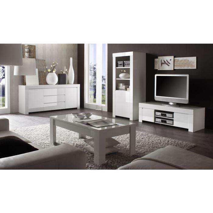Ensemble salon BOSTON 217 laqué blanc Achat / Vente