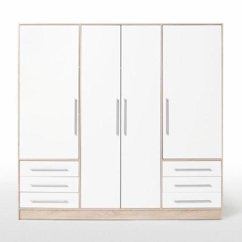 Jupiter Armoire 206cm chene/blanc pas cher Achat / Vente Armoire