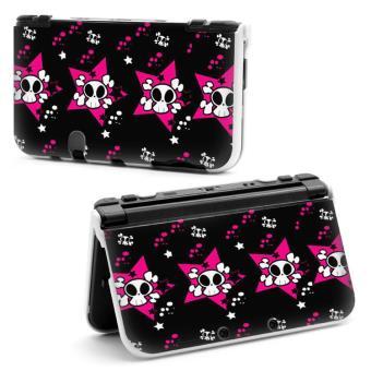 Coque Housse NEW 3DS XL Tete Mort Monster Rose Etoile Pois Noir Blanc