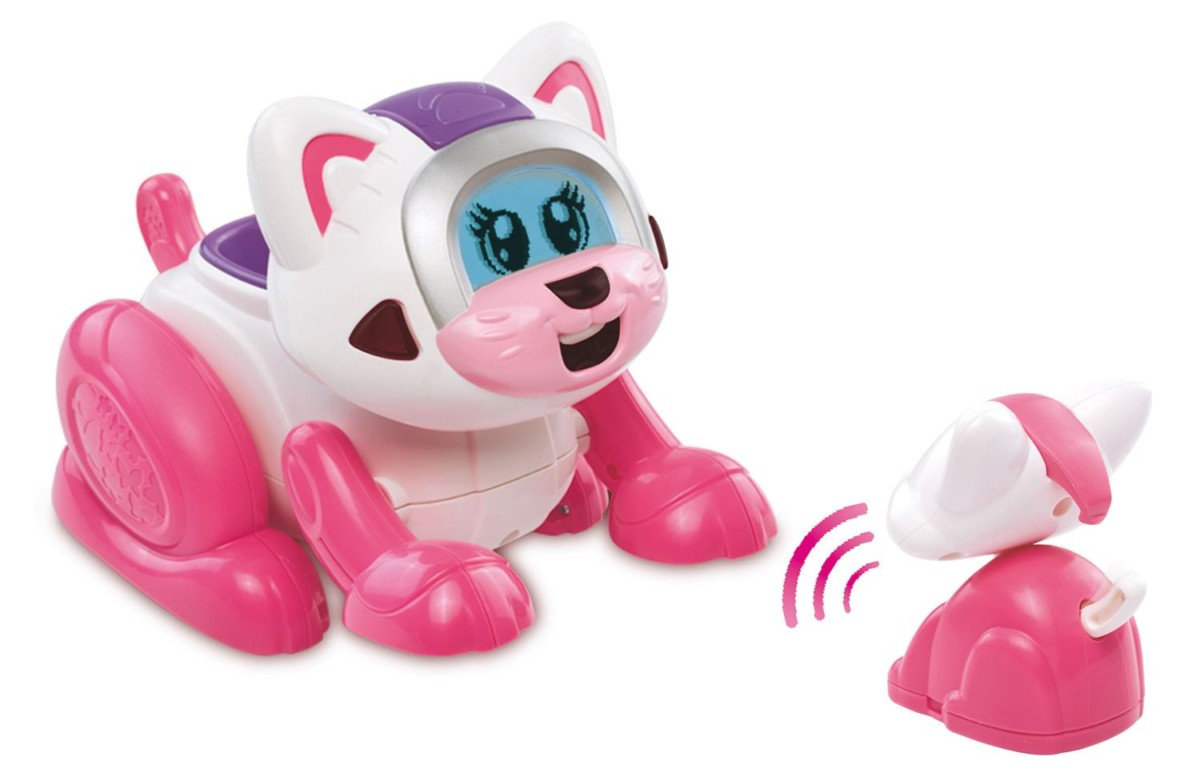 Vtech 182905 Animal Interactif Kidikitty Et Son Petit
