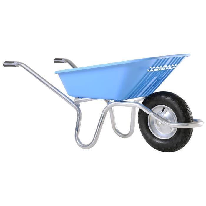 Brouette PLUME 100 bleue roue gonflée Achat / Vente BROUETTE