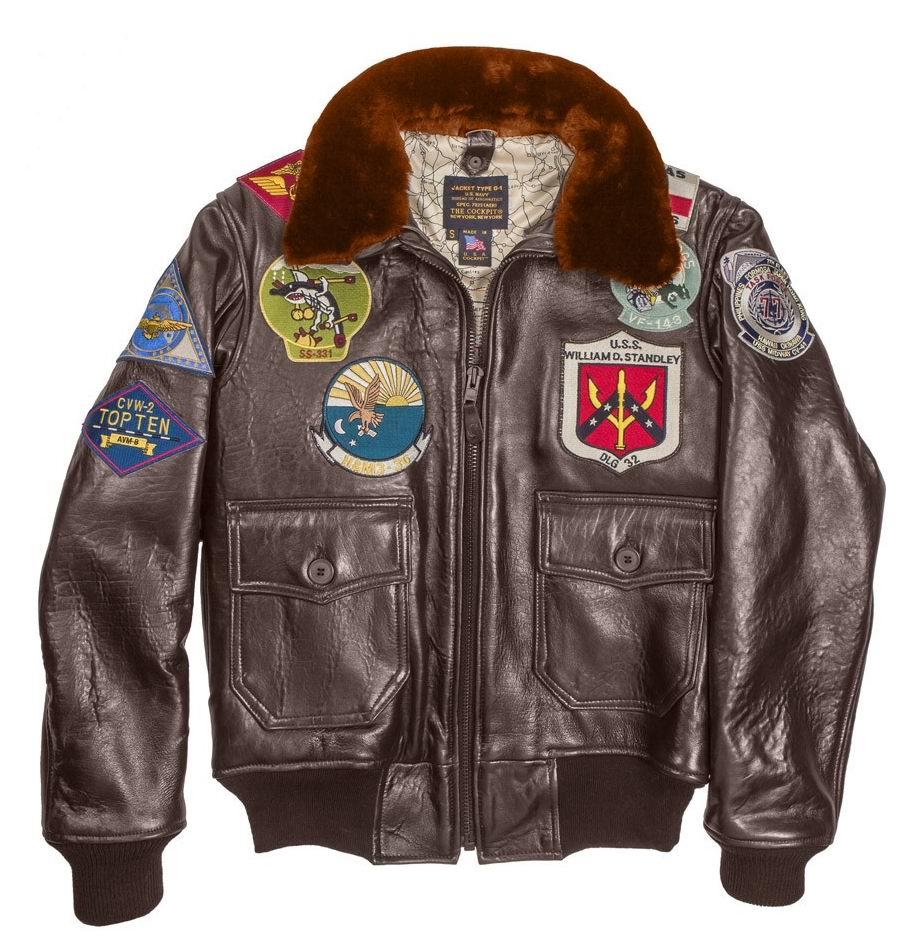 Blouson Aviateur Top Gun NAVY G 1 COCKPIT USA Ex Avirex G1 MADE IN USA
