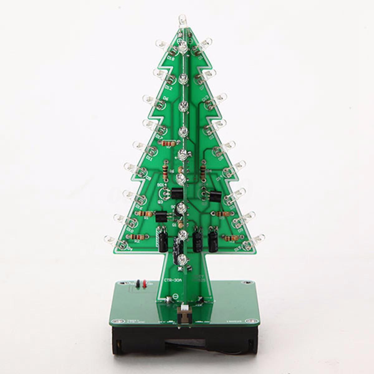 Arbre De Noël Sapin Artificiel LED Flash Kit 3D DIY électronique