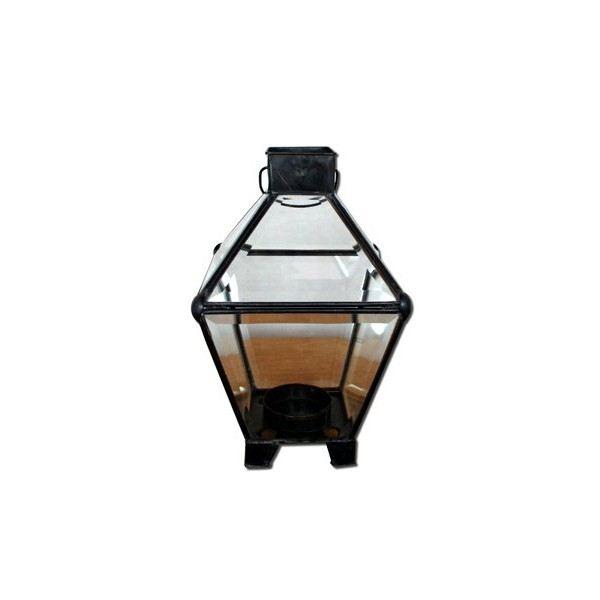 PHOTOPHORE LANTERNE Lanterne photophore en fer forgé et verre. Dim